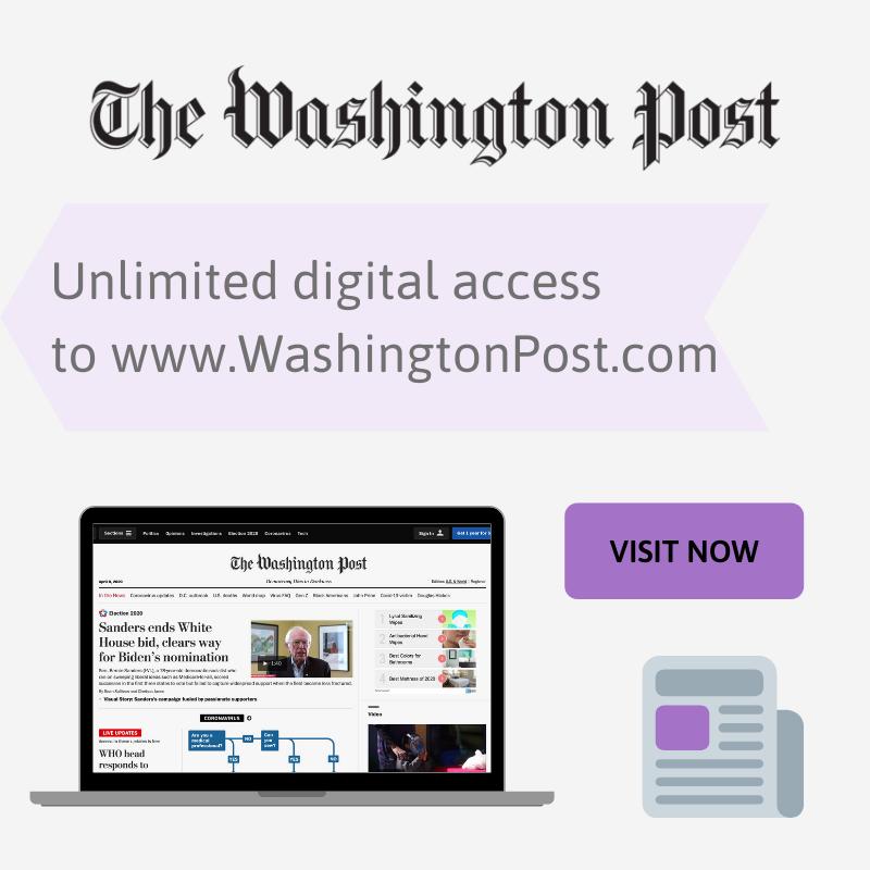 Free access to the Washington Post