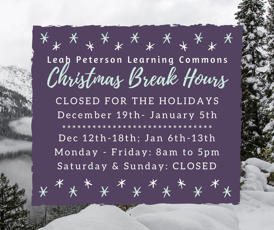 Christmas hours flyer