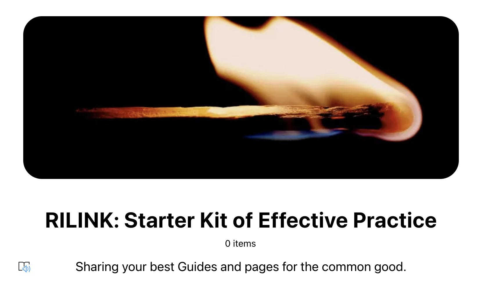 RILINK: Starter Kit for Effective Practice