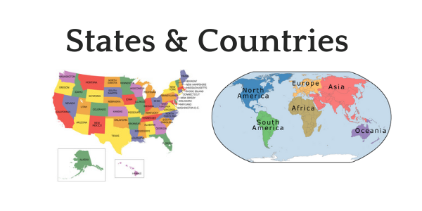states and countries