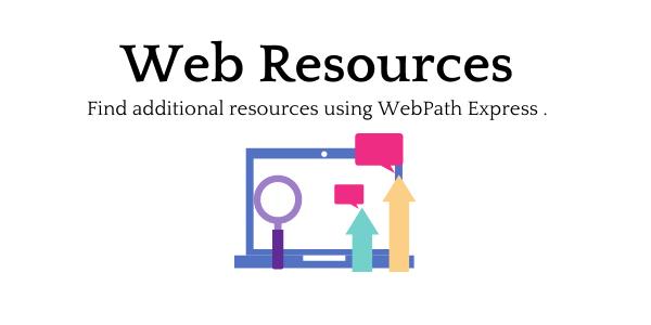 Find additional online resources web resources