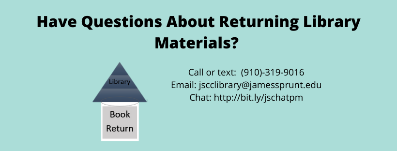 Questions about returning library materials? Please contact us.