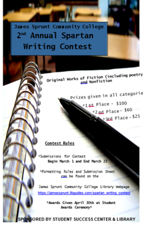 2nd Annual Spartan Writing Contest