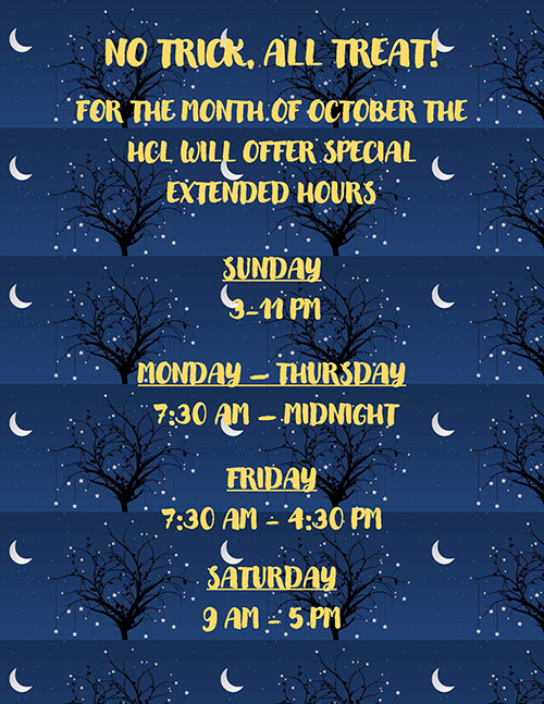 Special October extended hours
