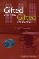 Gifted children and gifted education : a handbook for teachers and parents