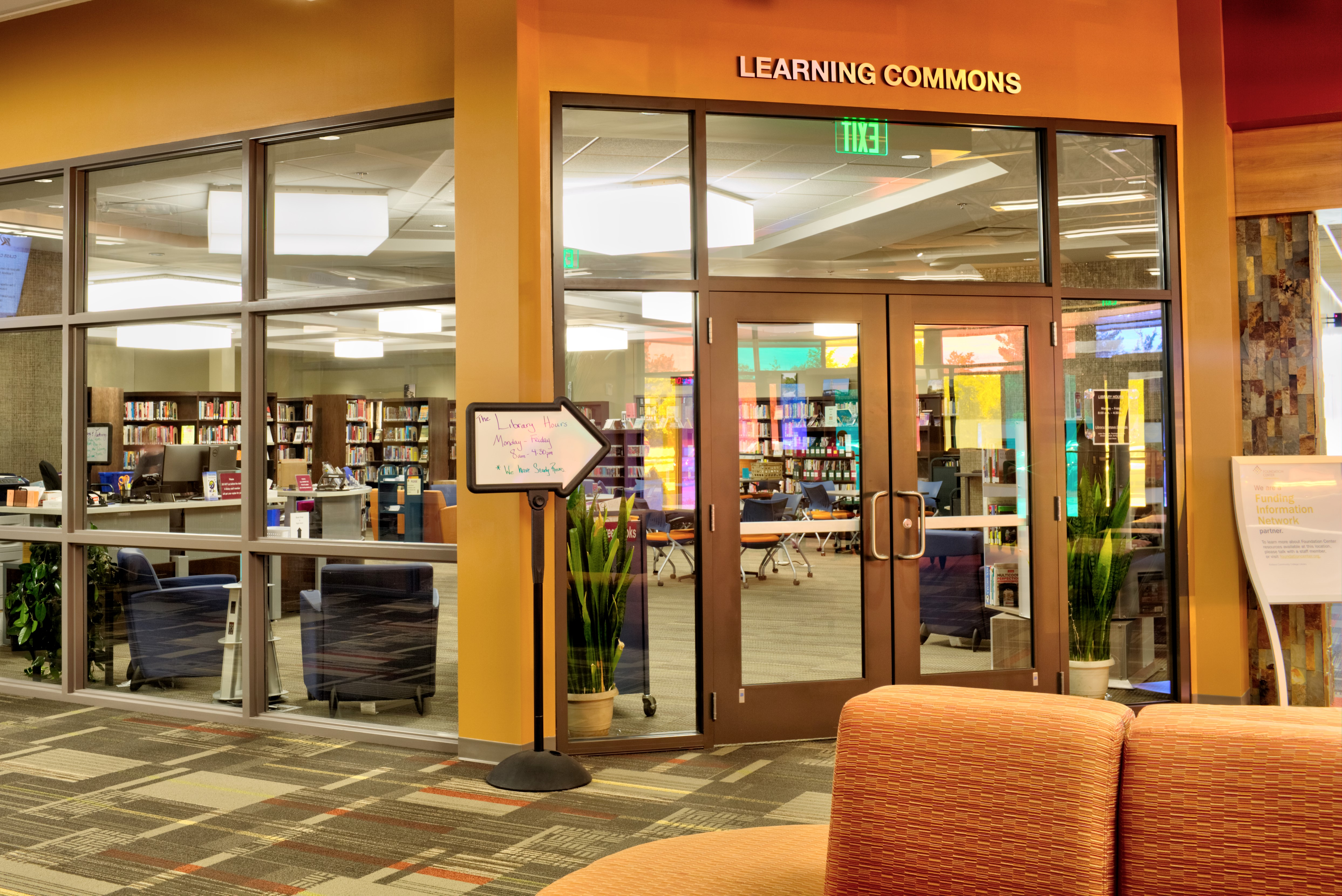 Library front doors