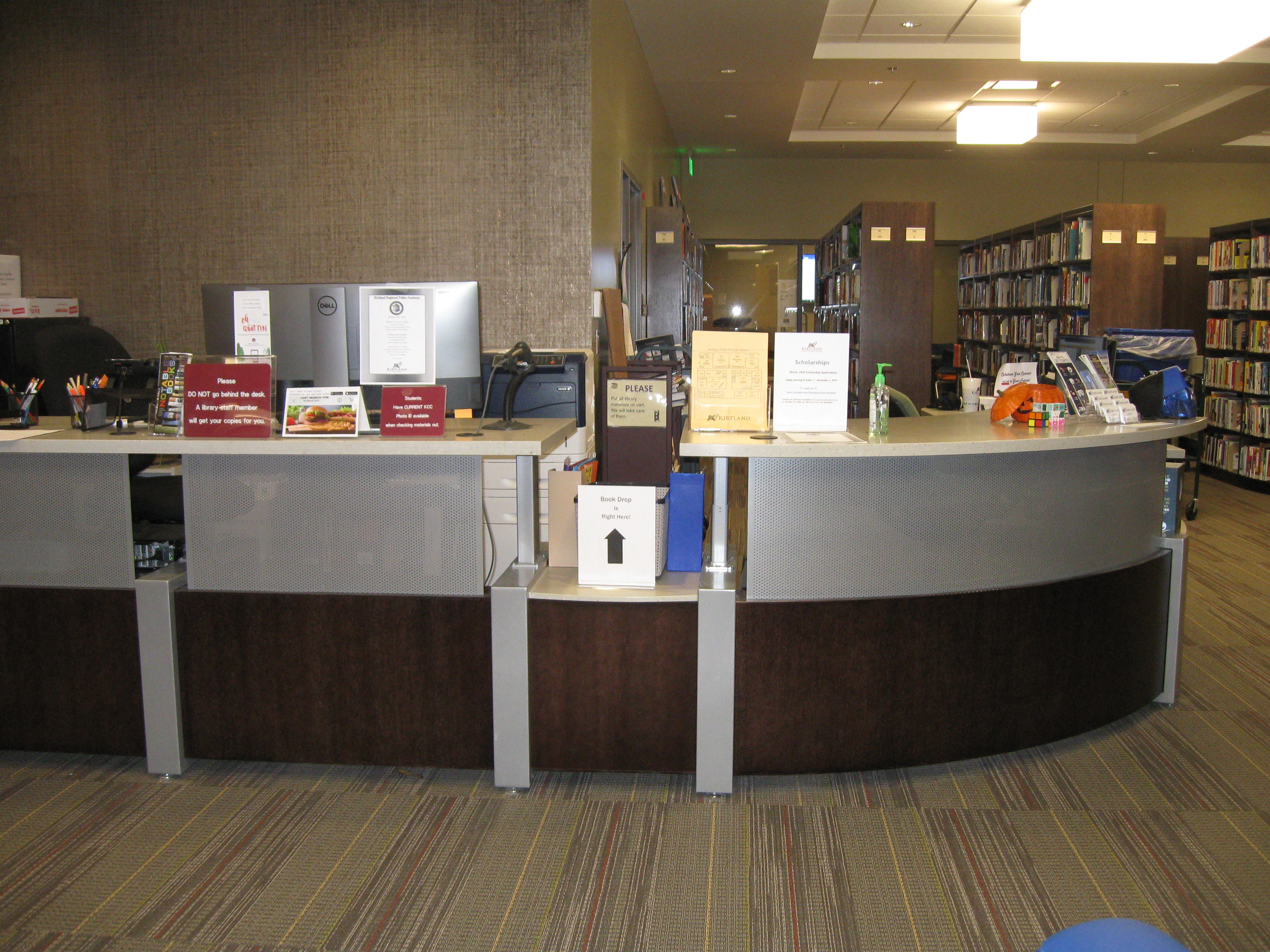 KCC Library circ desk