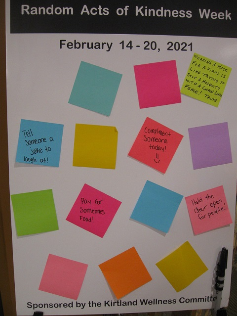 Random Acts of Kindness notes from Grayling-Board 2