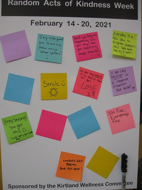 Random Acts of Kindness notes from Grayling-Board 1