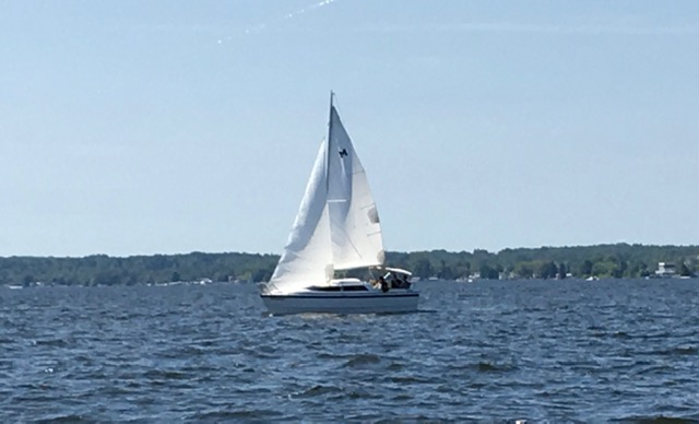 Sailing Houghton Lake