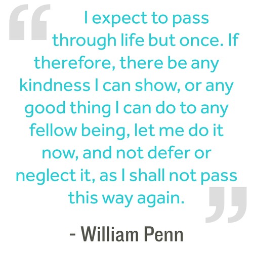 Quote-I expect to pass through life...-William Penn