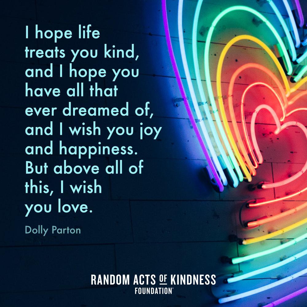 Poster-I hope life treats you kind... - Dolly Parton