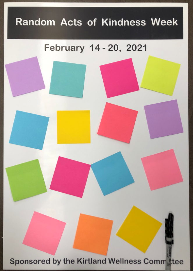 11x24 board with Post-It notes on it