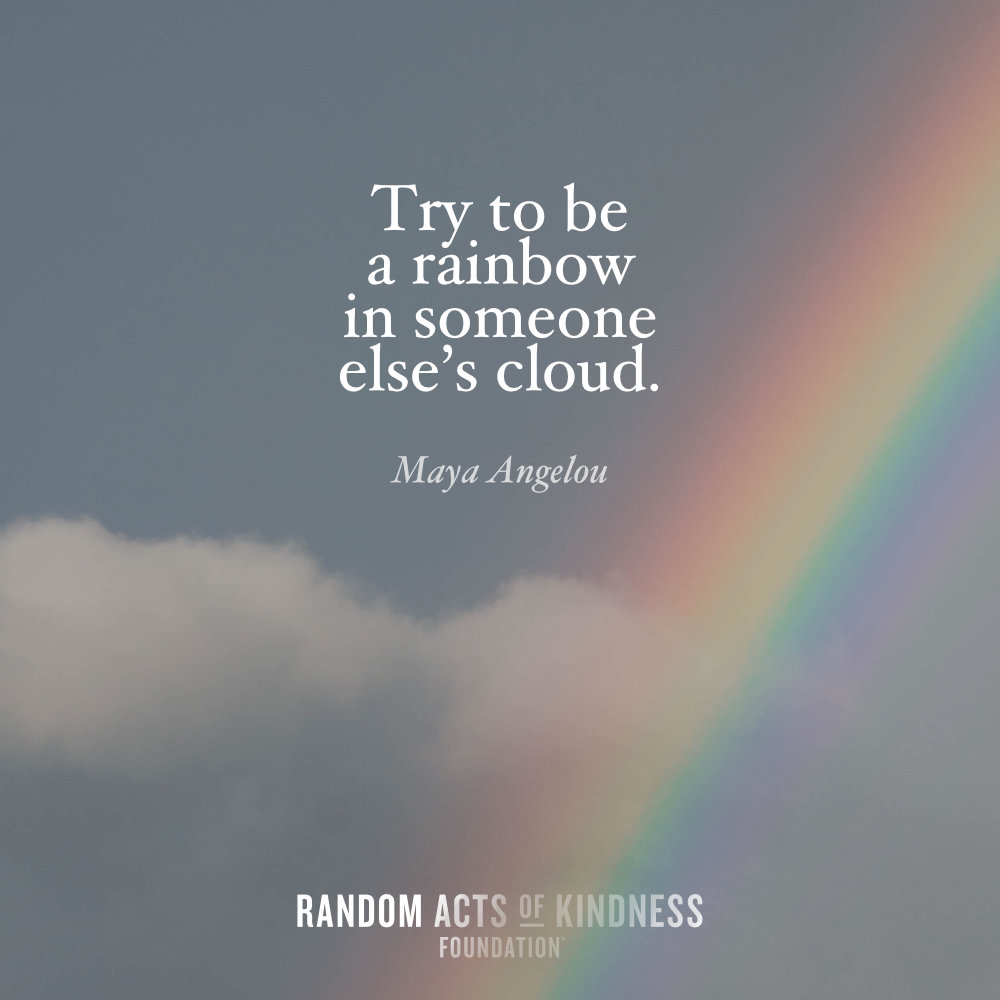 Poster-Try to be a rainbow-Maya Angelou
