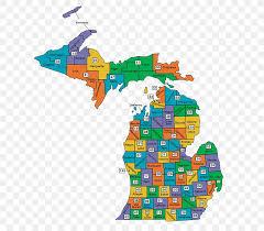 Michigan Top Map