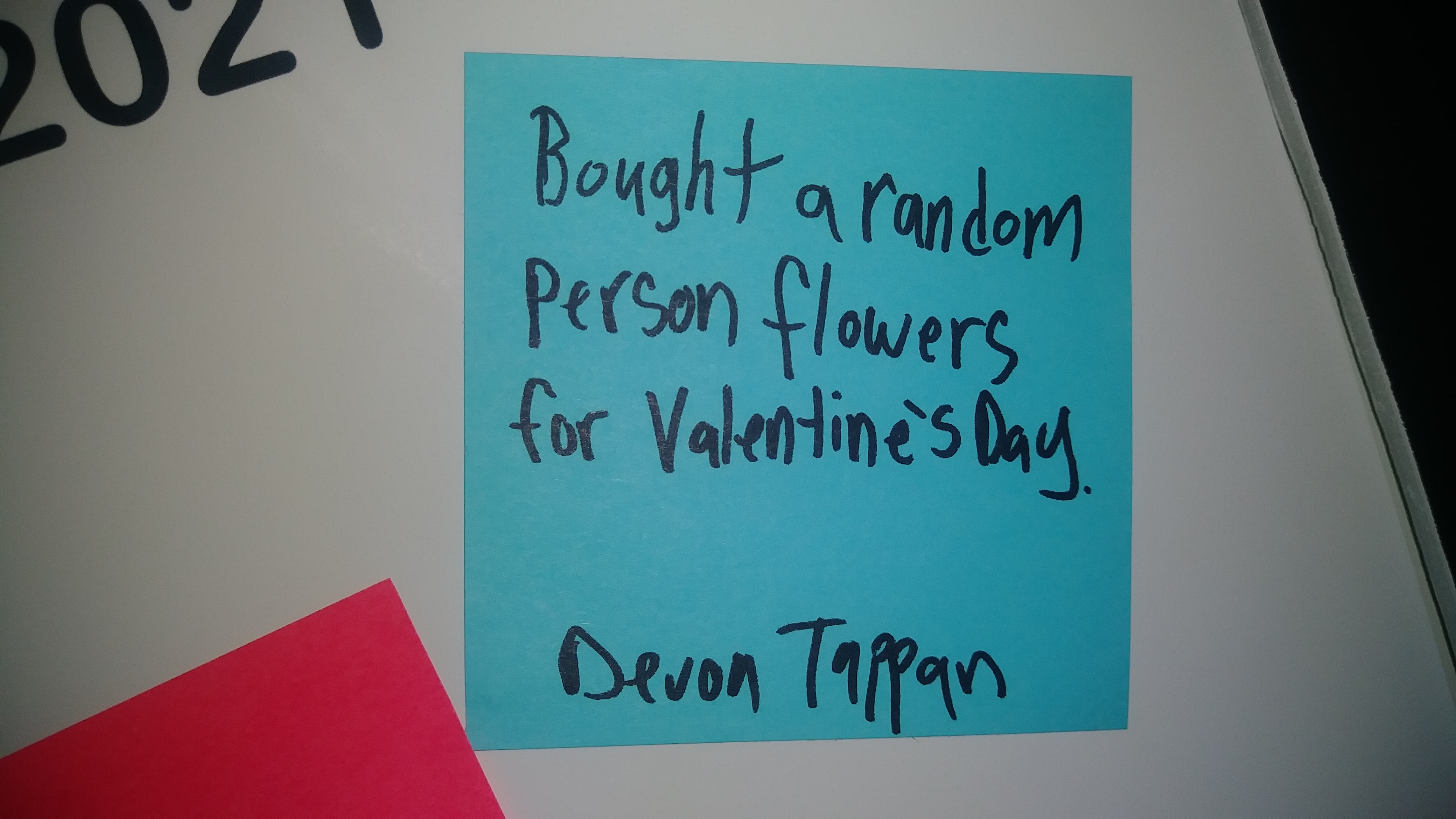 Bought a random person flowers for Valentine's Day