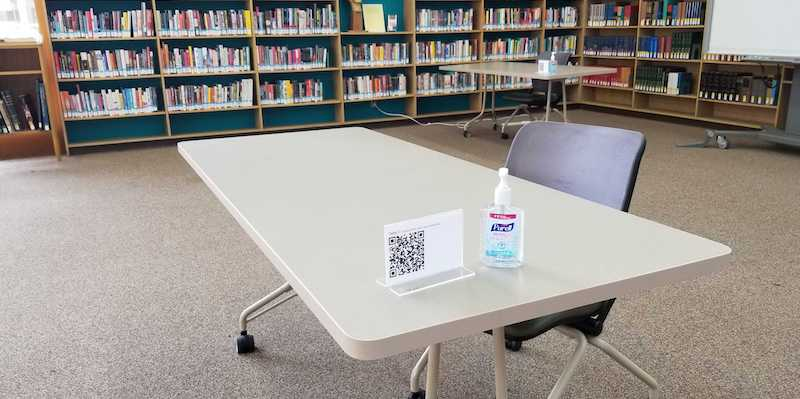 Library study tables