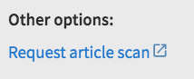 "Screenshot of ""Request article scan"" link"