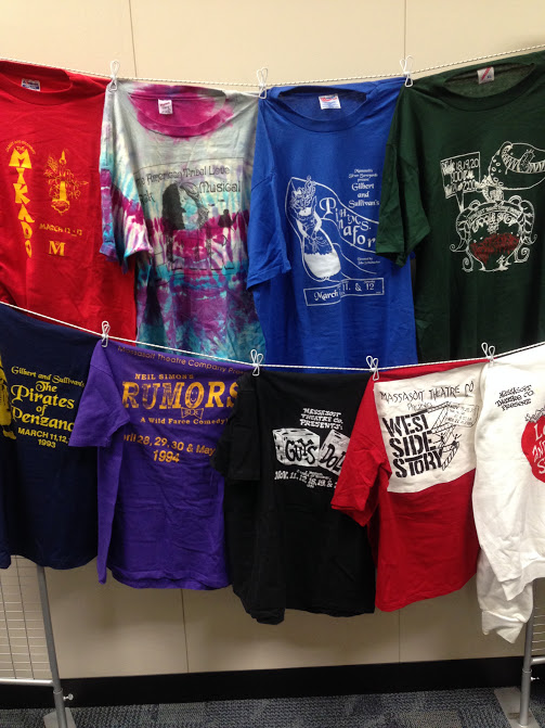 theater t-shirts display