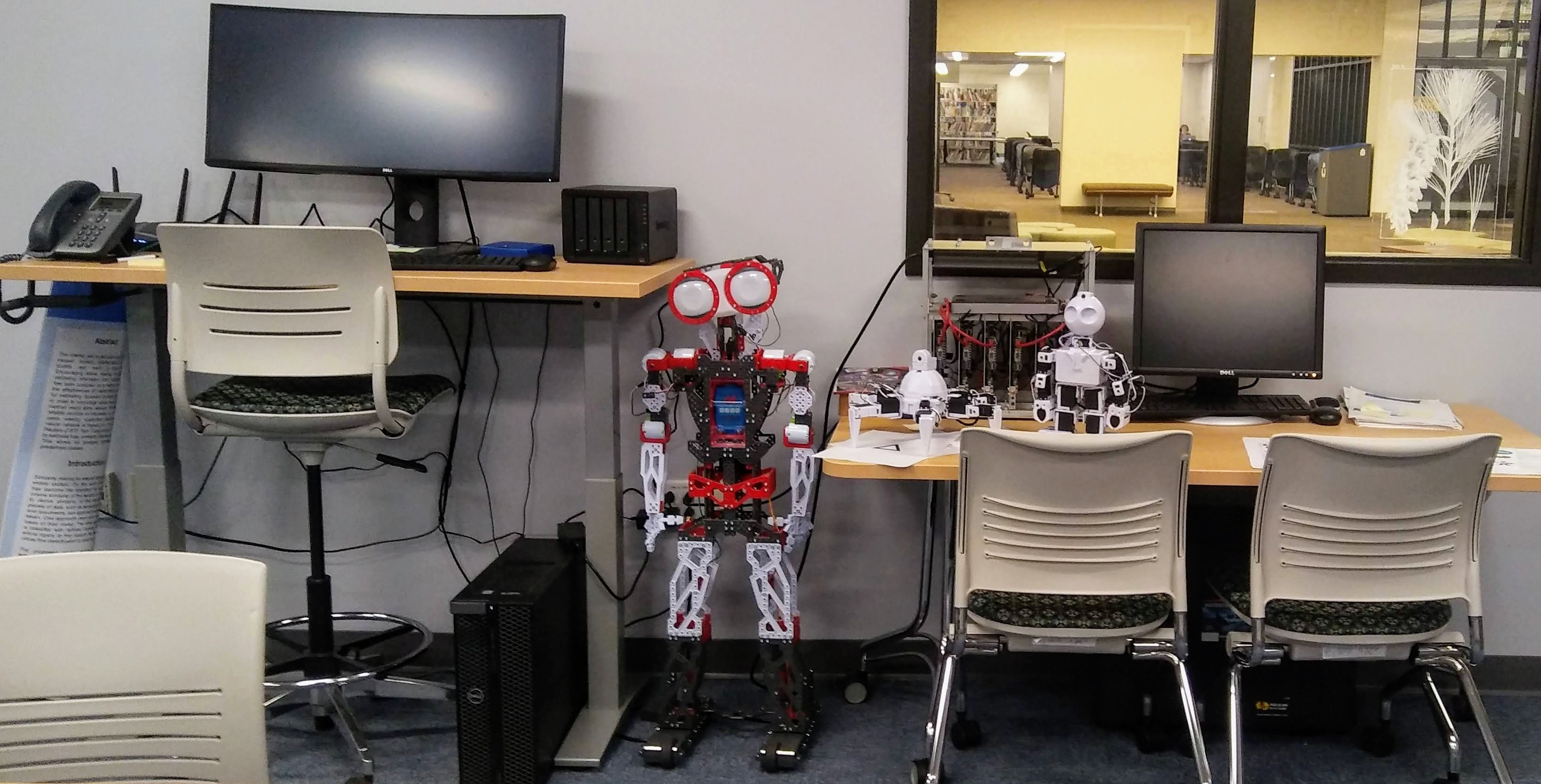 photo of robots in the artificial intelligence lab