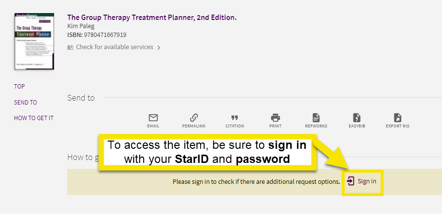On the next screen under the how to get it section you must sign in with your StarID