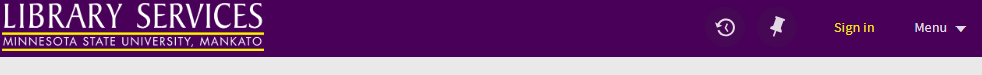 a purple Library Services bar will briefly appear