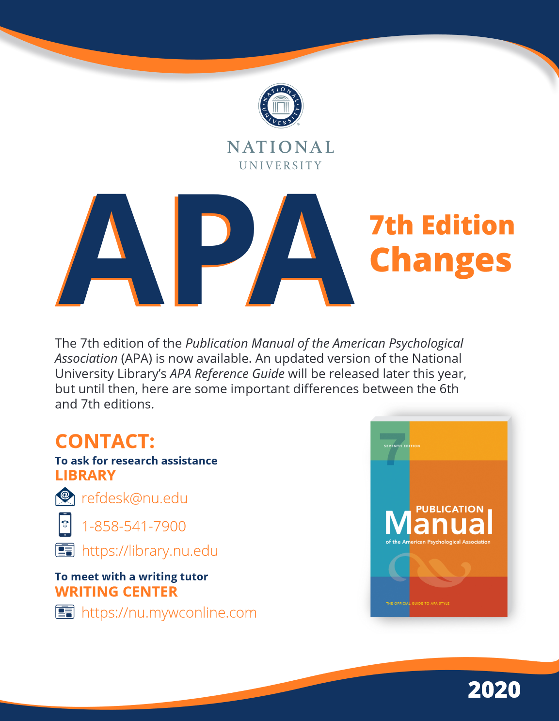 Image of the APA 7th Edition Changes Guide