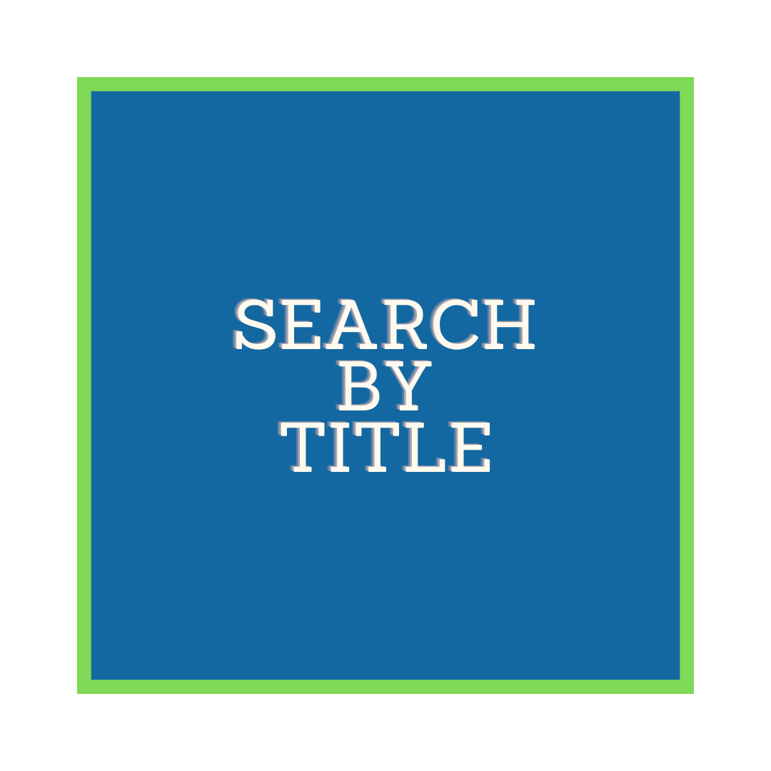 blue square with green trim with words