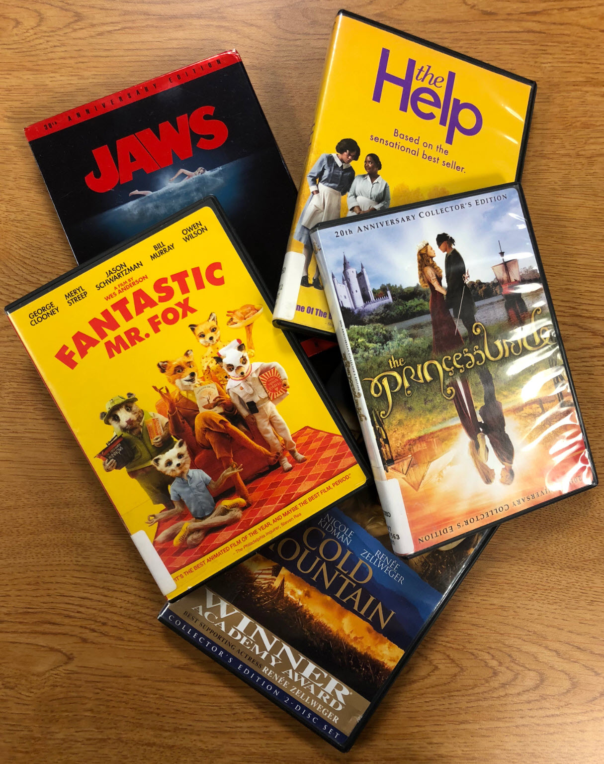 DVD Collection in Jim & Patsy Rose Library