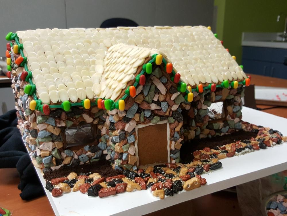 2016 Gingerbread Cobblestone House
