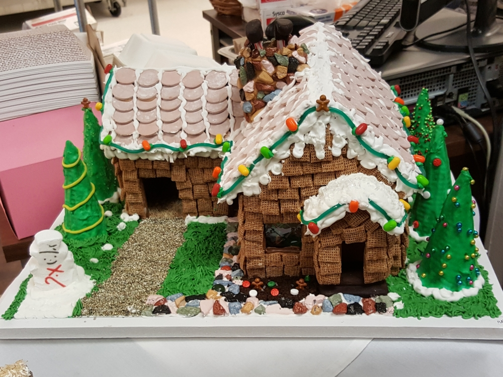 2016 Gingerbread Brown Siding House