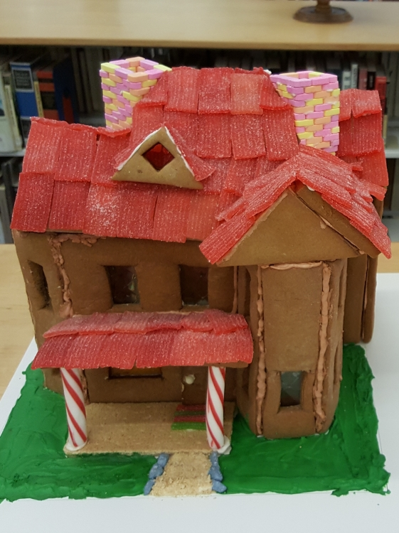 2017 Gingerbread Red Roof House