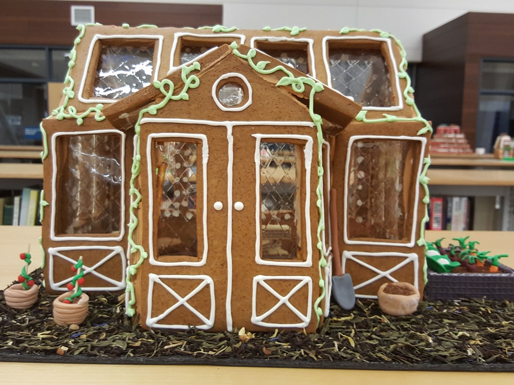 2018 Gingerbread Gray House - front view