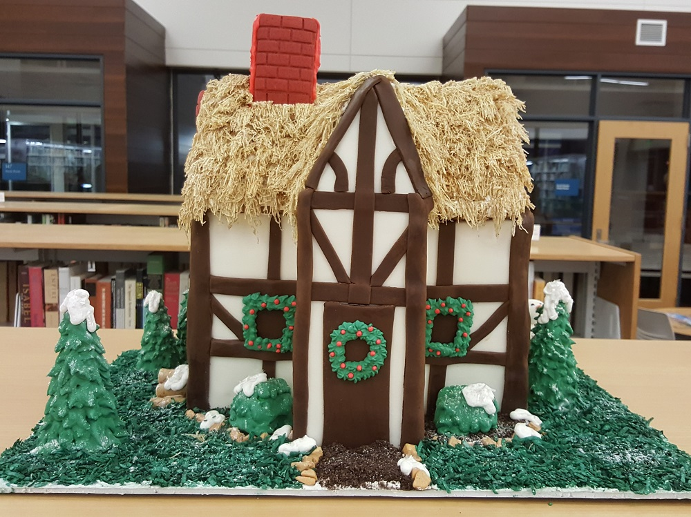 2018 Gingerbread Thatched House - front view