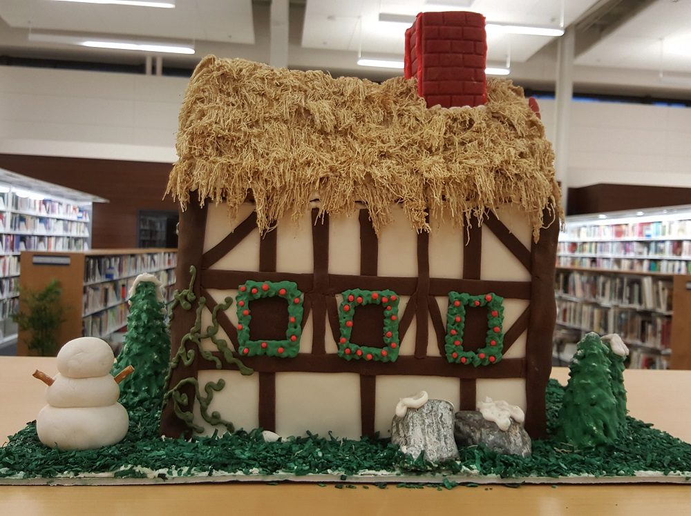 2018 Gingerbread Thatched House - back view