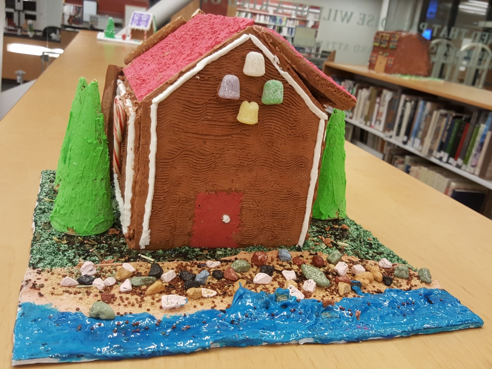 2018 Gingerbread Riverfront House - front view