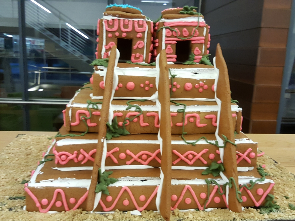 2018 Gingerbread Aztec Temple - front