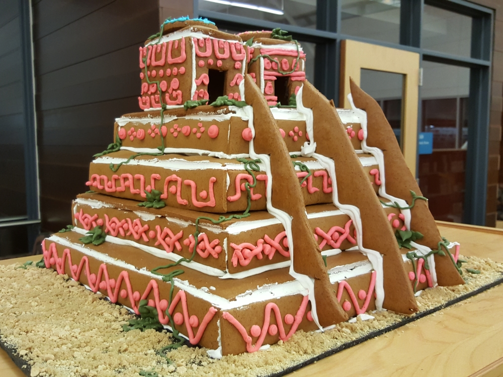 2018 Gingerbread Aztec Temple - side view