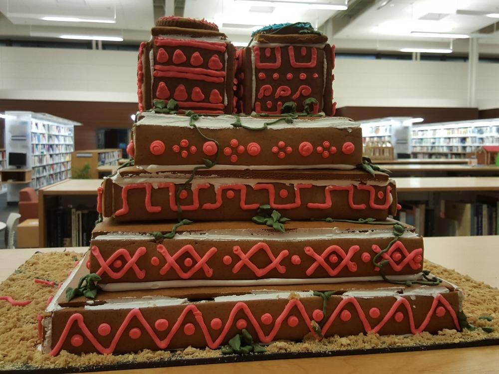 2018 Gingerbread Aztec Temple - back