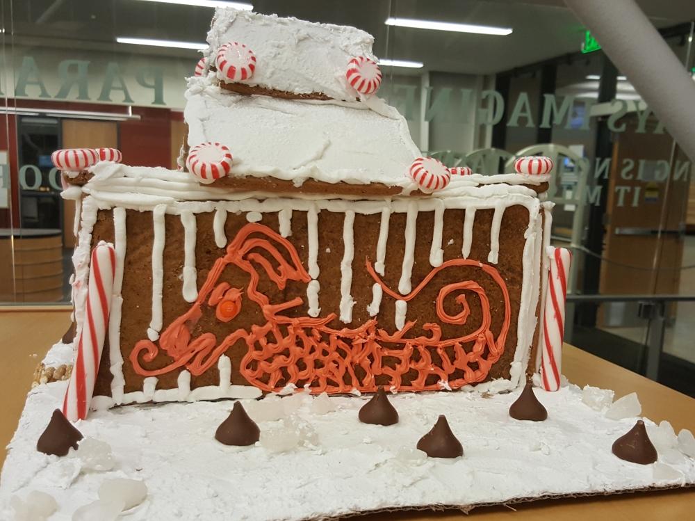 2018 Gingerbread Candycane House - left