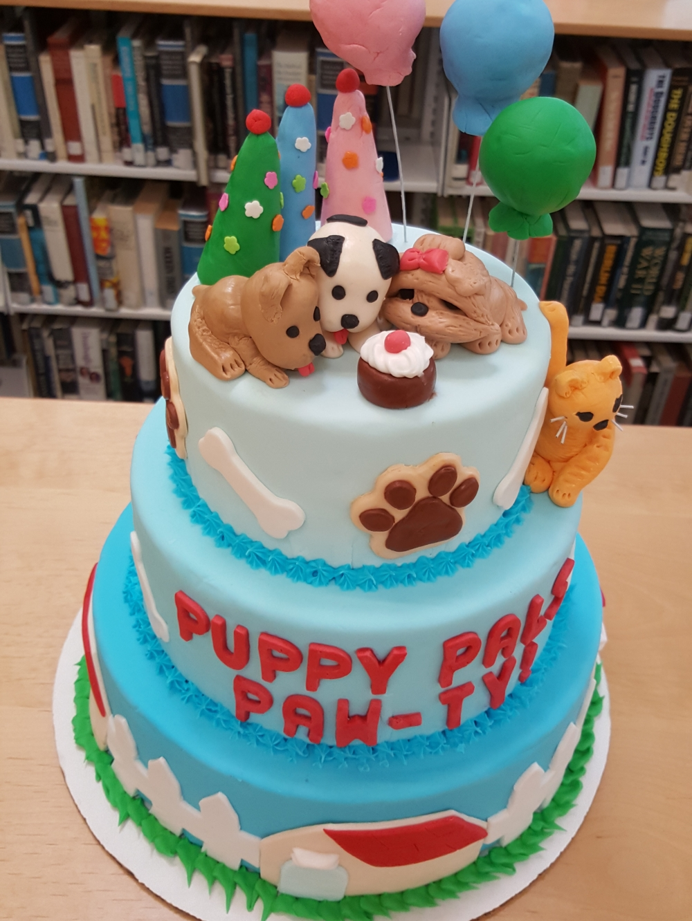 2019 Cakes Puppy Pals Pawty - top view
