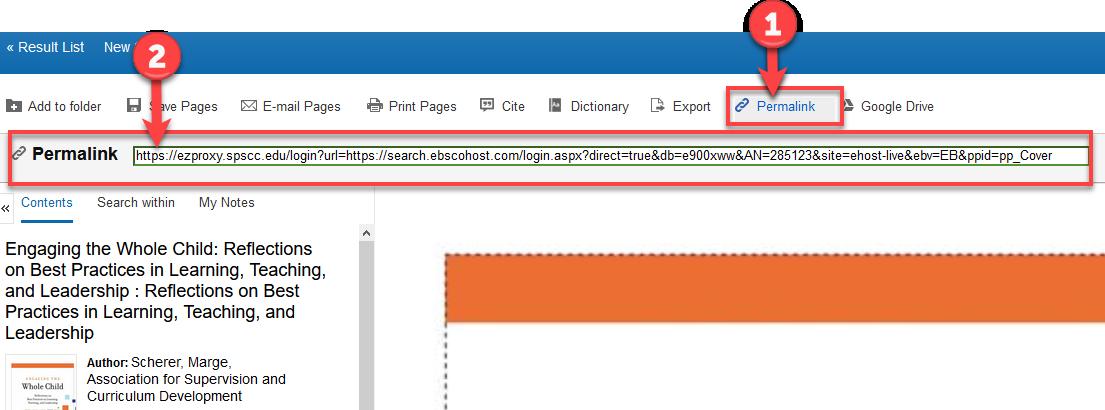 EBSCO ebook Permanent Link for PDF