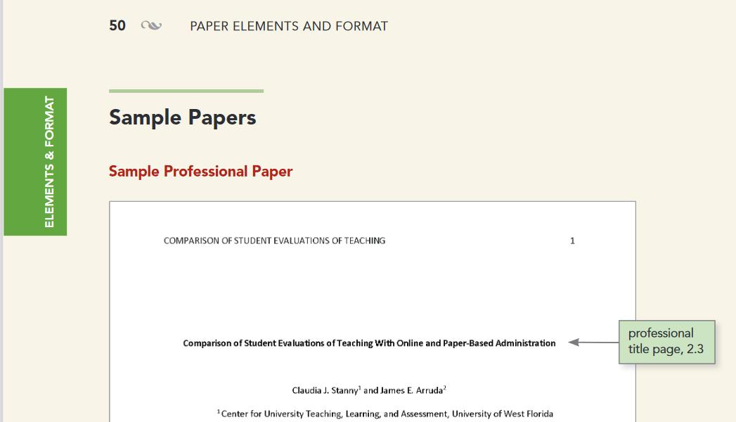 snapshot of sample professional paper
