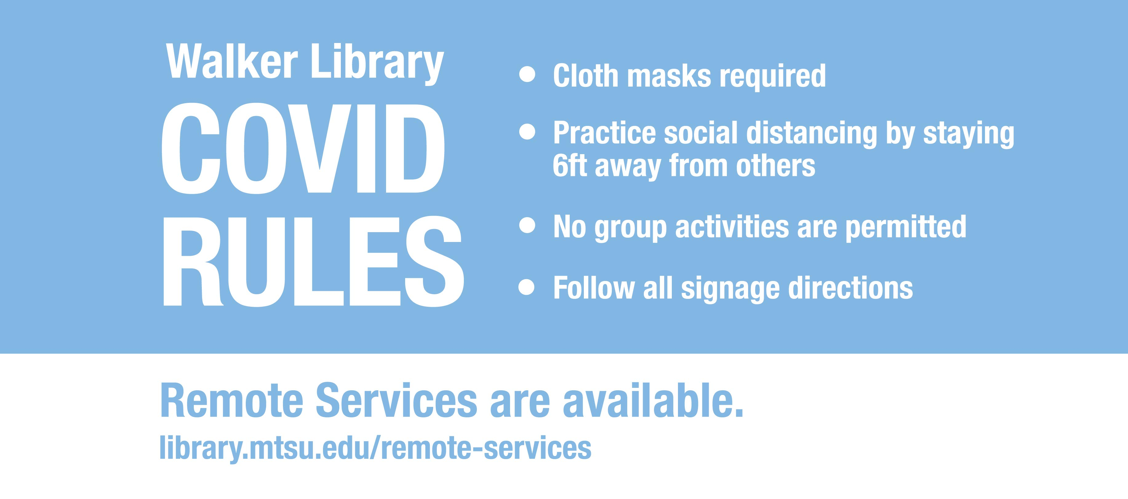 COVID Guidelines at the Library