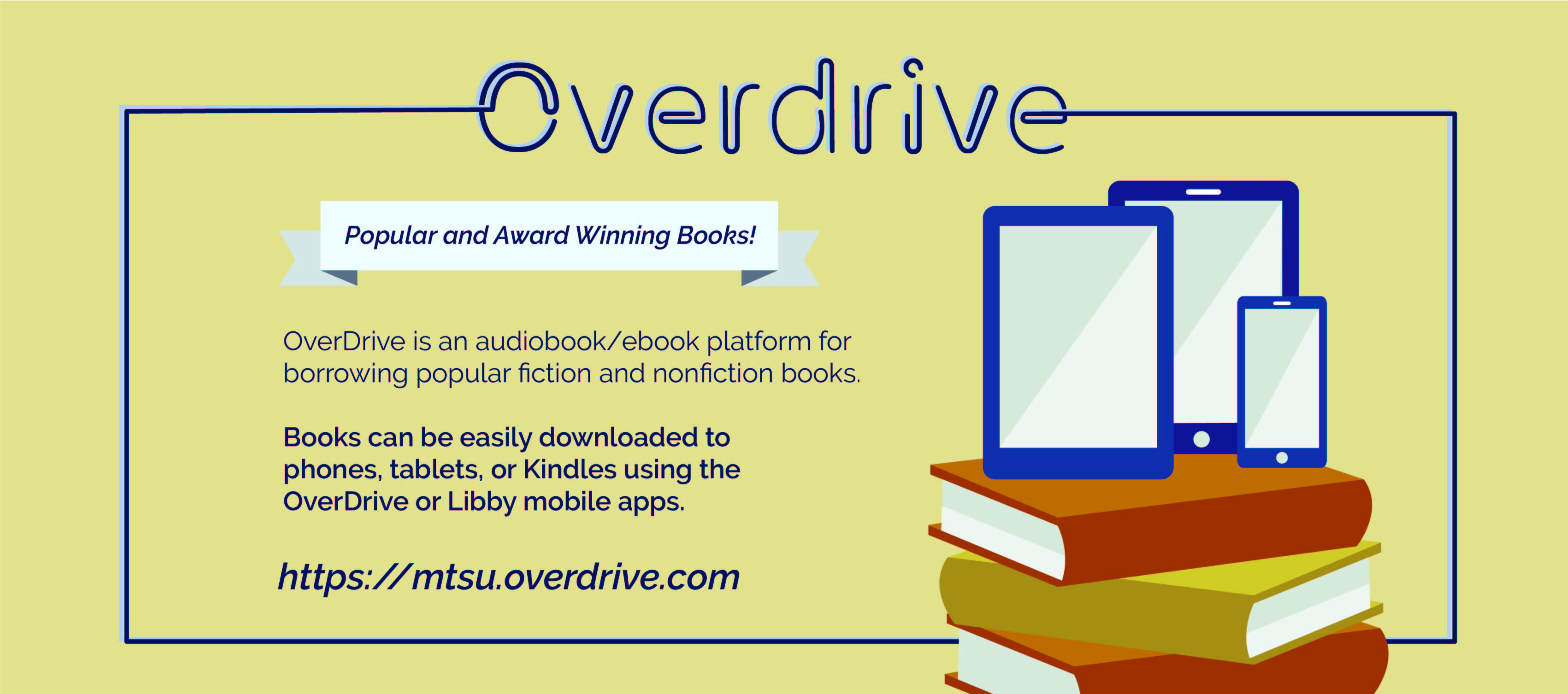 Overdrive Platform Link for audio and ebooks