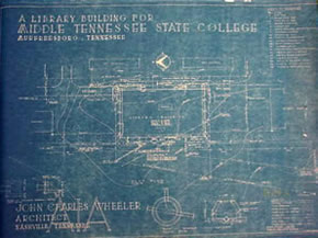 Todd Library blueprint from 1958