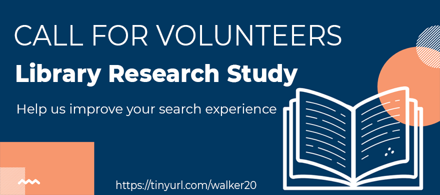 Looking for library research study volunteers