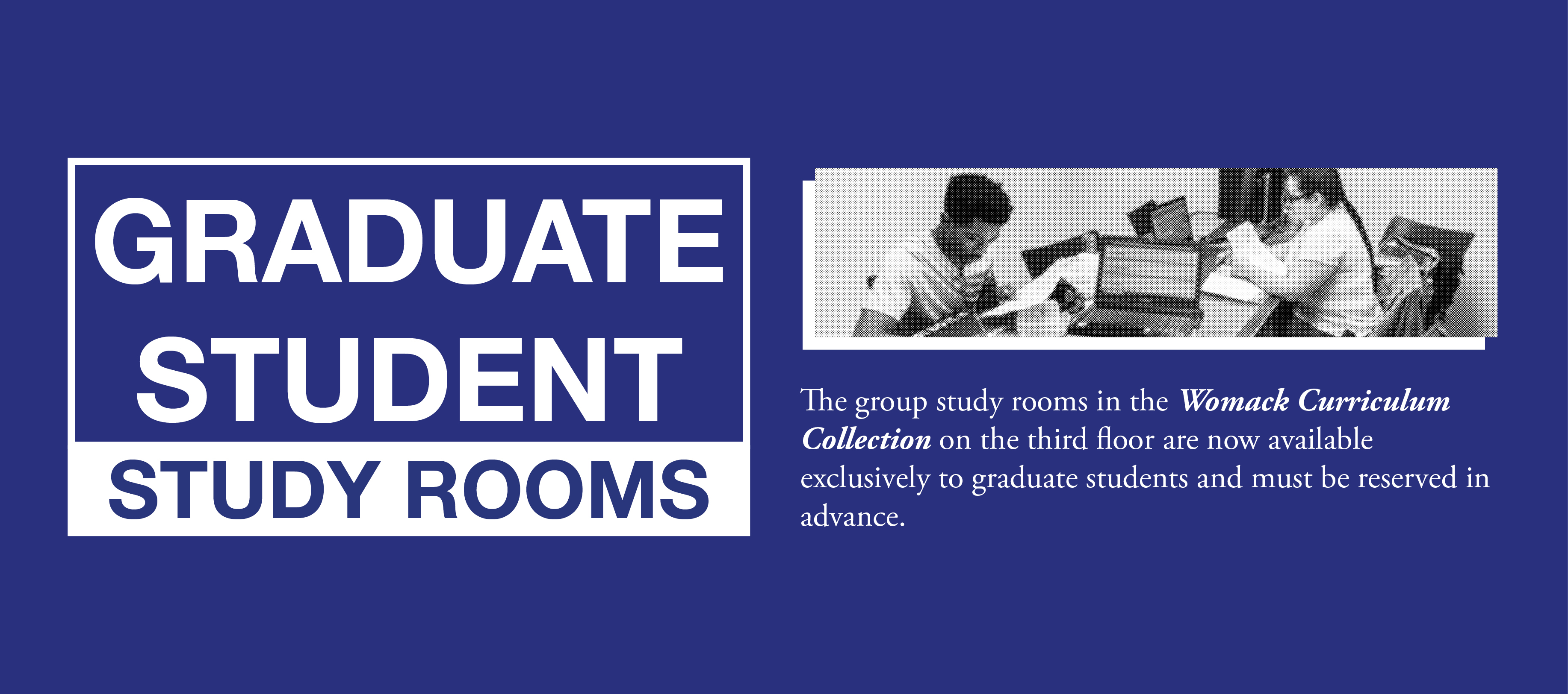 New Graduate Student Study Rooms