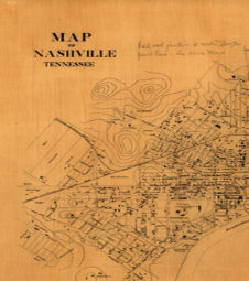 Historic Map of Nashville, TN