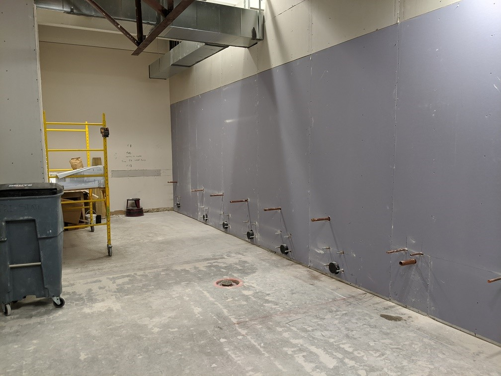 Drywall starting in project
